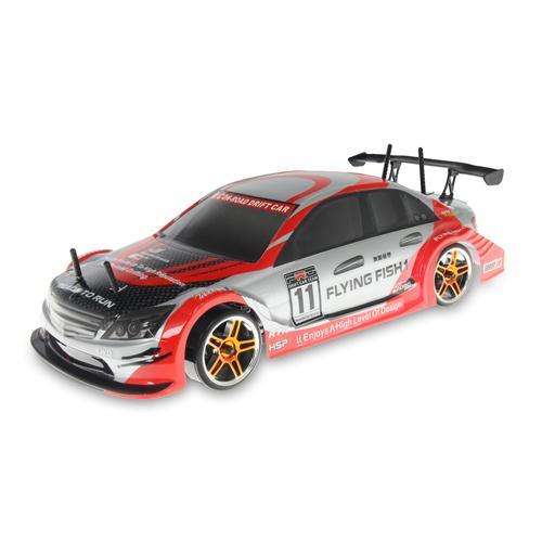 Радиоуправляемый автомобиль для дрифта 1:10 4WD 2.4G Мерседес красно-серый (36 см)